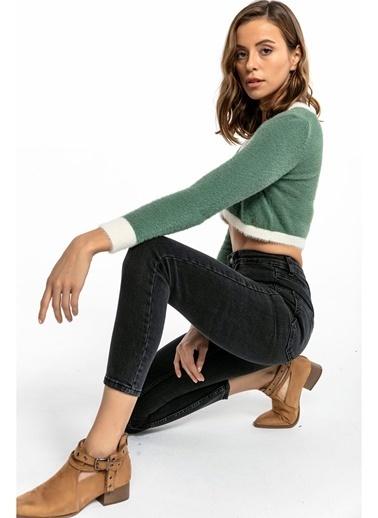 Tiffany&Tomato Yüksek Bel Skinny Jean Pantolon - Siyah Antrasit